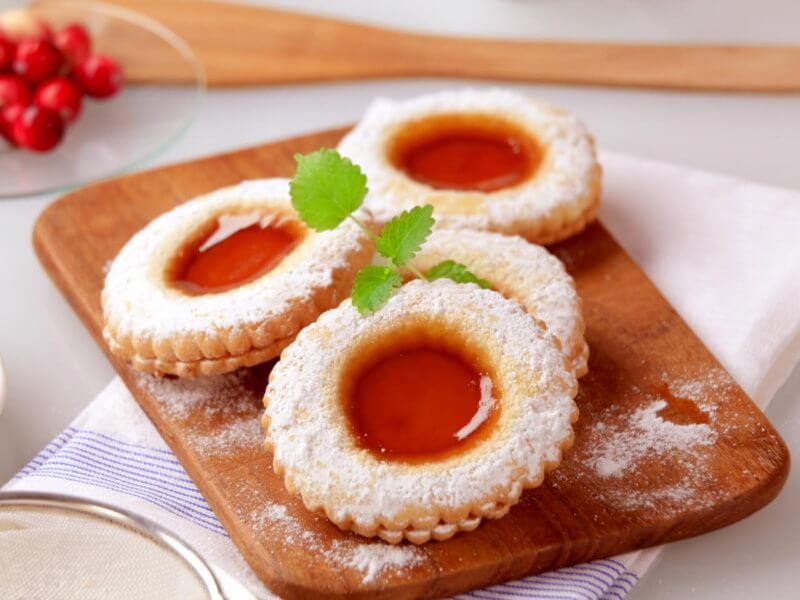 Galletas con Crema de Arroz Mary y mermelada